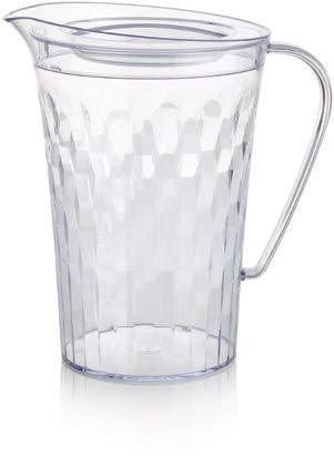 TUPPERWARE-Ice Prism 2qrt Krug-Crystal Clear - Tupperware Crystal