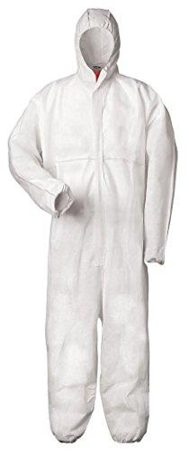 Raum Anzüge Kostüm - XL Multi Schutzanzug gegen Chemie, Staub, Nuklearpartikel - antistatischer Schutz-Overall Kat III, Typ 5 und 6 XL,weiß