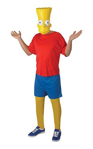 Rubie's Offizielles Erwachsenen-Kostüm Bart Simpson -Standardgröße (Simpsons Kostüm Für Erwachsene)