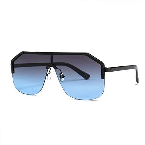XCTYQ Sonnenbrillen Quadratische Sonnenbrille Frauen Männer Übergröße Sonnenbrille Mit Farbverlauf