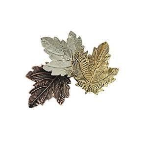 Veroda Vintage Unisex Retro Alloy Maple Leaf Pattern Brooch Pin Badge 3-Leaf