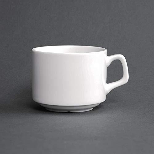 Paquet de : 6 Tasse empilable porcelaine fine Lumina pour assiette CD646 200 ml