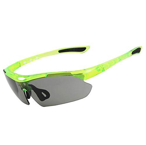 Sonnenbrille Für Brillenträger Sportbrille Mit Wechselgläsern Reiten Brille 3 Linsen Outdoor Sportarten Uv Schutz Fahrrad Brille Winddicht Sand Myopie Hd Sonnenbrille Green Damen Herren