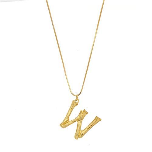 EisEyen Halsketten für Frauen Damen Herren Schmuck Edelstahl Gold Groß, Name Initiale Alphabet Buchstaben A bis Z