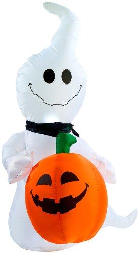 infactory Aufblasbarer Geist: Selbstaufblasender Halloween-Geist mit Beleuchtung (Halloween - Aufblasbare Halloween-geist