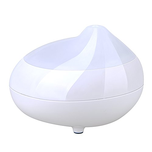 GEEDIAR®120ml Humidificateur Aromathérapie Similibois électrique Diffuseur Huile Essentielle Refroidir Humidificateur (Blanc)