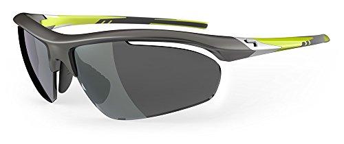 Nebensonne Golf- Schraube Sonnenbrille - Dunkel Metallisch Grau/Rauch