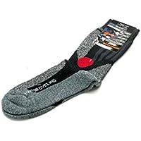 Kochmann - Calcetines cortos para moto, color gris y negro