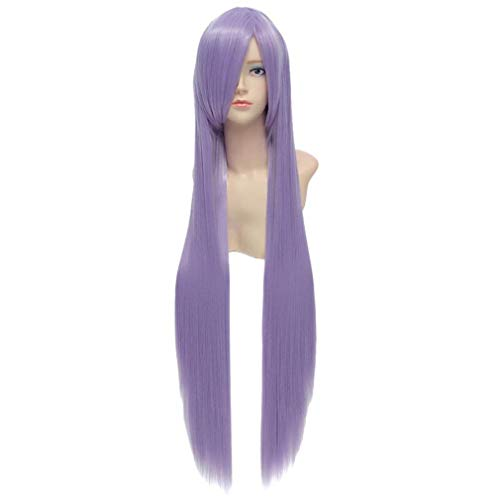 Baisheng Haruka Naru Toki kein Naka de 100cm Lavendel gerade lange synthetische volle Cosplay Kostüm Anime Perücke ()