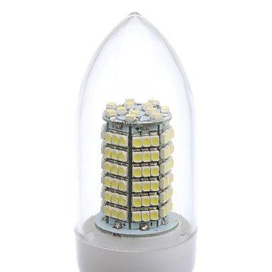 FDH 8W E26/E27 Luces de velas LED SMD de C35 138 3528 620 lm / blanco cálido, blanco frío,220-240 V CA Cool White