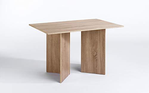 CAVADORE Tisch ANGLE / praktisch kleiner Küchentisch 110 cm breit / Moderner Esstisch in Sonoma Eichenholz Optik / Wangentisch sonoma / 110 x 70 x 75 cm (L x B x H)