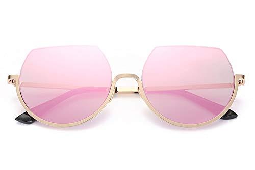 WDDYYBF Sonnenbrillen, Steampunk Runde Sonnenbrille Frauen Männer Die Hälfte Frame Flat Top Sonne Brille Randlose Brillen Trend Uv400