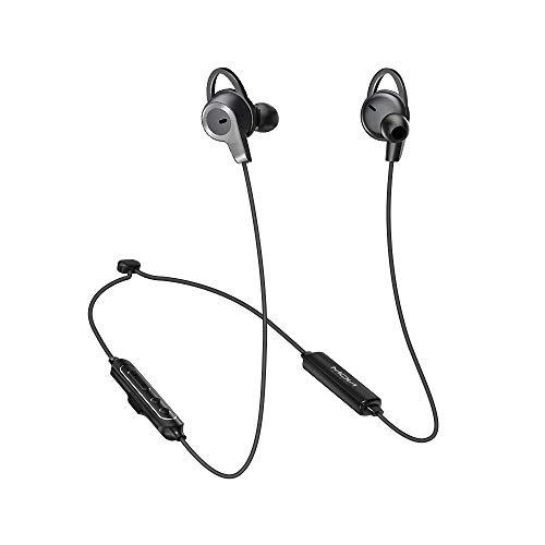 MOXNICE Écouteurs Bluetooth Sport sans Fil, Ecouteurs Bluetooth à Réduction de Bruit Active (ANC) Casque avec Super Hearing Technologie, IPX6 Étanche, Hi-Fi Son