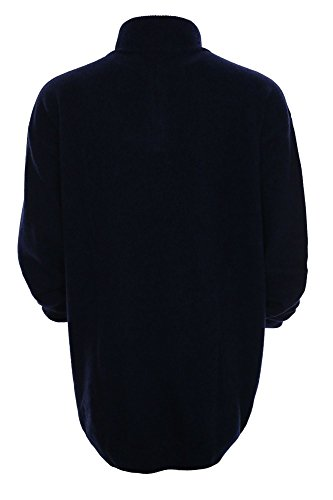 Kitaro Pullover Troyer Herren Wolle Plusgröße Übergröße Dunkelblau