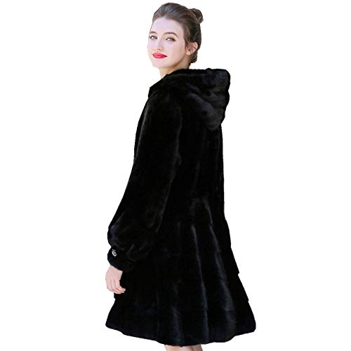 YRFDM Warmer Mantelm,90cm Länge echte Mäntel Jacke Hoody Winter Oberbekleidung Mäntel Plus Size 4XL 1