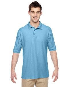 Adult 5.3 oz., Easy-Care� Polo LIGHT BLUE 3XL (Sleeve Pique Shirt Knit)