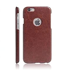 Octer Cover For Apple IPhone 7+ Leather Back Cover (Brown)