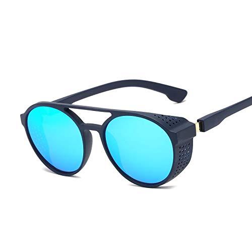 AAMOUSE Sonnenbrillen Runde Metall Steampunk Sonnenbrille Frauen Männer Mode Sonnenbrillen RetroDesignerPunk reflektierende Brille