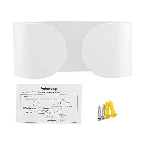 6 Vanity Bar Licht (Kireina LED Aluminium Moderne Wandleuchte 6 Watt Warmweiß für Indoor Vanity Bar Licht Pathway Treppe Schlafzimmer Wohnzimmer Schlafzimmer Flur Wohnzimmer Dekor)