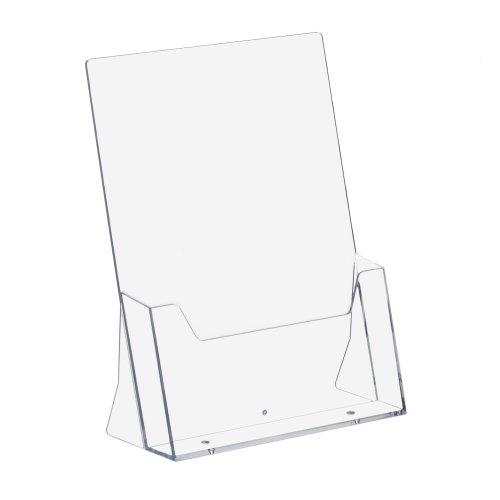 5 Stück DIN A4 Prospekthalter Hochformat transparent