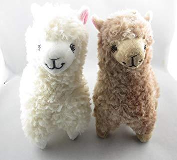 Morwealth 2pcs 9inch Plüsch gefüllt Alpaka Puppe Spielzeug