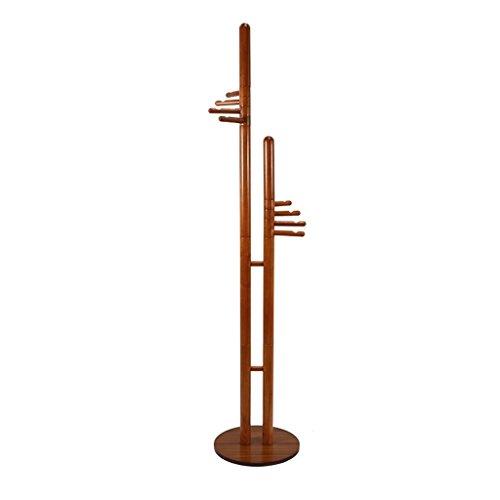 SKC Lighting-Porte-manteau Support en bois solide de plancher de plancher Cintre multi-lié Cintres créatifs de disque (40 * 40 * 187CM)