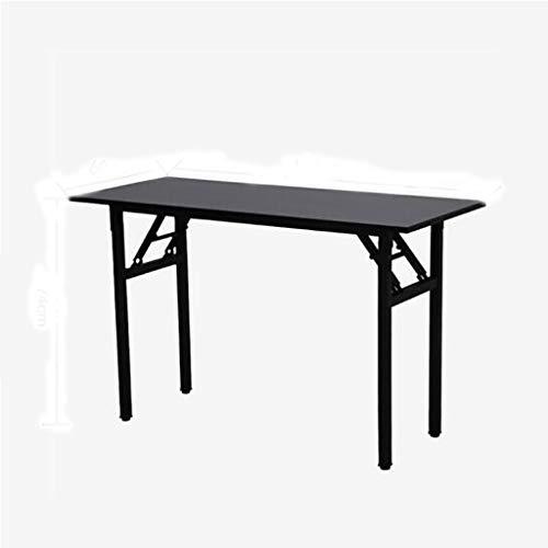 JIAQI Praktischer Multifunktionstisch Computertisch Schreibtisch Schreibtisch Klapptisch Konferenztisch Stilvoller und Raffinierter Lesetisch A ++ (Color : Black)