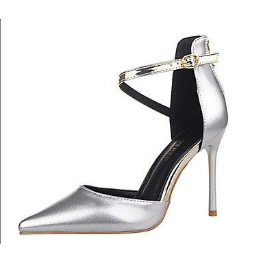 Moda Donna Sandali Sexy donna tacchi PU Casual Stiletto Heel altri nero / viola / rosso / bianco / argento / grigio chiaro / mandorla arancio / Altri Purple