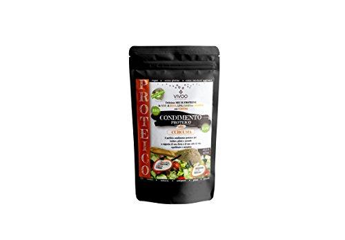 VIVOO RE-EVOLUTION | MIX/CONDIMENTO PROTEICO CURCUMA| Biologico, Raw | Senza Zuccheri aggiunti | No: glutine, Latticini, Soia, OGM | Vegano, Kosher | Ricco di Nutrienti | Confezione 150 g cad.