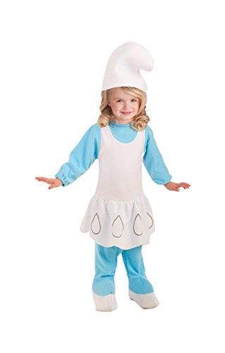 Mädchen Kostüm Schlumpf (Schlumpfine Kleinkinder Kostümierung)