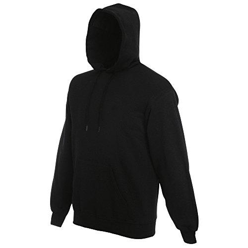 Fruit of the Loom Classic 80/20 hooded sweatshirt Black