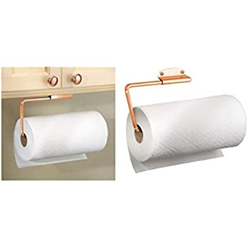 Interdesign Forma Porte Sopalin Support Pour Papier Essuie Tout Mural En Acier Inoxydable Porte Essuie Tout Pour 1 Rouleau Couleur Cuivre