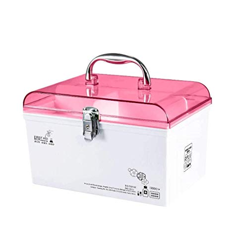 GOXJNG Medizin Box Set Familie Erste-Hilfe-Kit Medical Drug Box Durable Pille Lagercontainer Tragbare Apotheke for Heim Not- und Überlebenssituationen (Size : Medium)