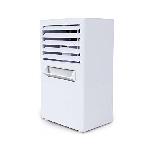 Preisvergleich Produktbild GUORZOM Mini Desktop Fan Spray Luftbefeuchter Klimaanlage Portable Arctic Luftkühler Blattlose Lüfter Gerät Cool Soothing Wind,  White