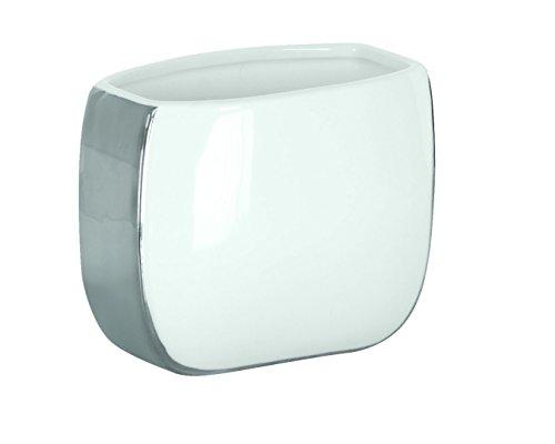 Kleine Wolke 5082127852 Zahnputzbecher Pearl, Bad-Accessoires, weiß / silber
