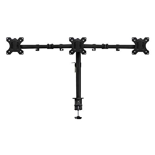Ewent EW1513 Support d'écran Plat pour Bureau 68,6 cm (27) Pince/Boulon Noir - Supports d'écrans Plats pour Bureau (Pince/Boulon, 7 kg, 68,6 cm (27), 100 x 100 mm, Réglage de la Hauteur, Noir)