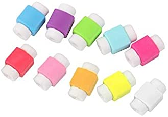 Aryshaa 10pcs Protector Saver Cover for iPhone iPad USB Charger Cable (Assorted Color)