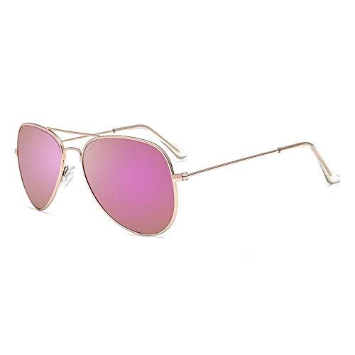 FUZHISI Sonnenbrillen Polarisierte Sonnenbrille Männer Pilot Damen Fahren Sonnenbrille Oval Mirror Goggles Eyewear, Pink