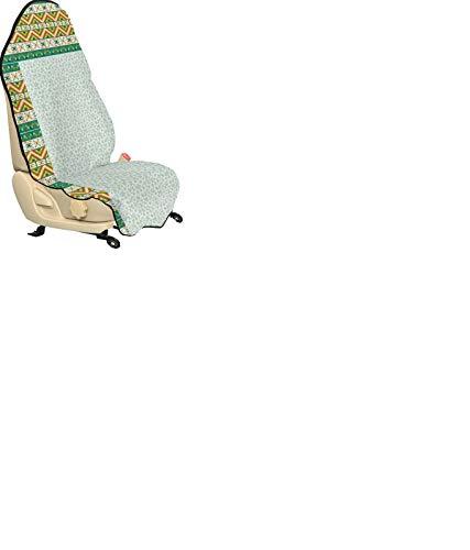 ABAKUHAUS Luau Universal Schon und Autositzbezug, Frischer Frühling in Hawaii, Stoff für Fahrer Vordersitze Anti Slip, 75x145cm, Mint Grün und Weiß