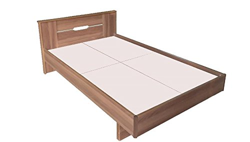 Zuari Quadra Queen Size Bed (Dalian Walnut)  available at amazon for Rs.12500