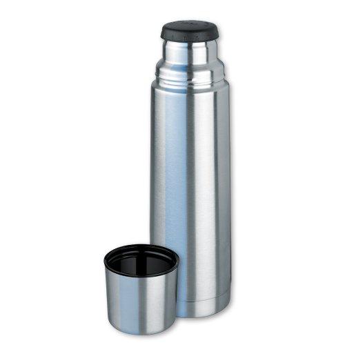 Isosteel VA-9556 Vakuum-Isolierflasche 0.75 L aus 18/8 Edelstahl mit Schraubverschluss und Trinkbecher