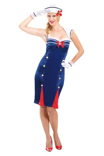 Kostüm Sexy Pin Up Matrose 36/38, US-Grösse 8 - 10, S ()