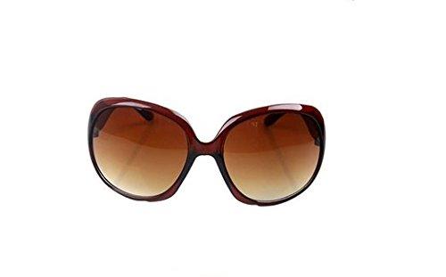 Wicemoon Champagne Large Frame Dark getönte Linse Vintage Retro Sonnenbrille Anti UV Eye Protect Unisex für den täglichen Urlaub oder Beach Eyewear Sunshine Glasses