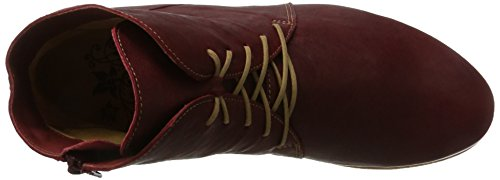 Pensez Shua, Bottes Desert Boots Femme Rouge (rouge / Kombi 72)