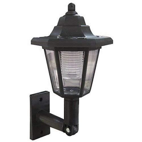 WOF Solarleuchten-Garten LED im Freien beleuchtet Schwarze viktorianische Trainer-Laterne-Wandleuchten im Freien, traditionelle Solarlichter-Garten-Beleuchtung - Traditionelle Trainer