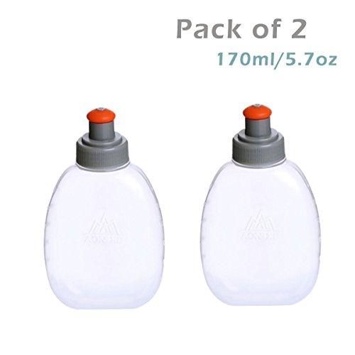 Triwonder BPA-freie Auslaufsichere Wasserflaschen - für Trinkgürtel oder -weste - Ideal zum Laufen Wandern Radfahren (170ml/5.7oz)