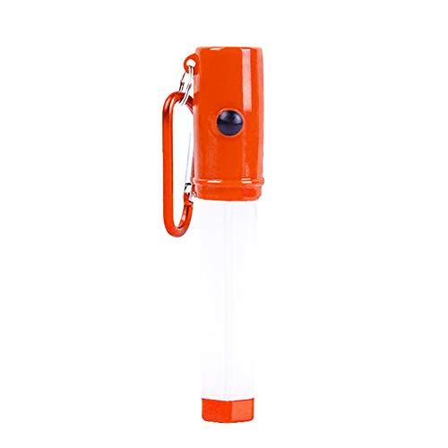 P12cheng LED-Taschenlampe, tragbare Mini-LED-Taschenlampe, Schlüsselanhänger, Klettern, Notfall-Taschenlampe Orange Stun Pen