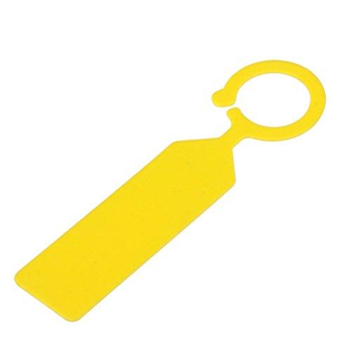 UEETEK 100PCS PP Gewächshaus Garten Pflanze Ring hängen Kragen-Tag-Nummernetikett (gelb) Pflanze Kragen