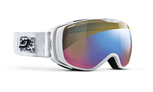 Julbo Luna Skibrille mit Reaktiv-Display, Photochromatisch und polarisierend, für Damen, Weiß, Gr. M