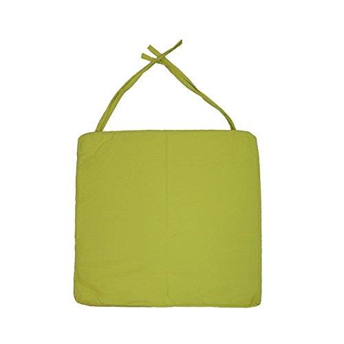 Galette de chaise carrée 40x40x4 cm Vert anis